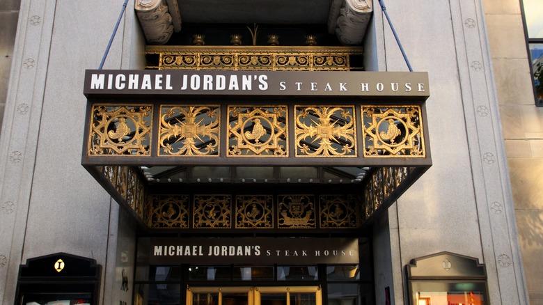 Michael Jordan's steakhouse entrance in Chicago