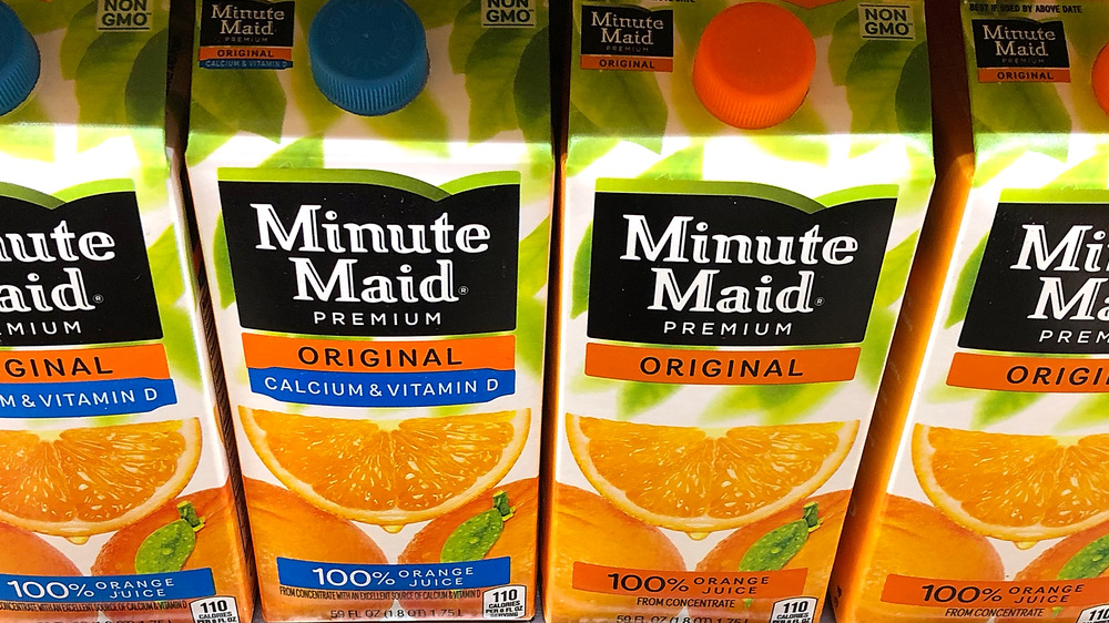 Cartons of Minute Maid