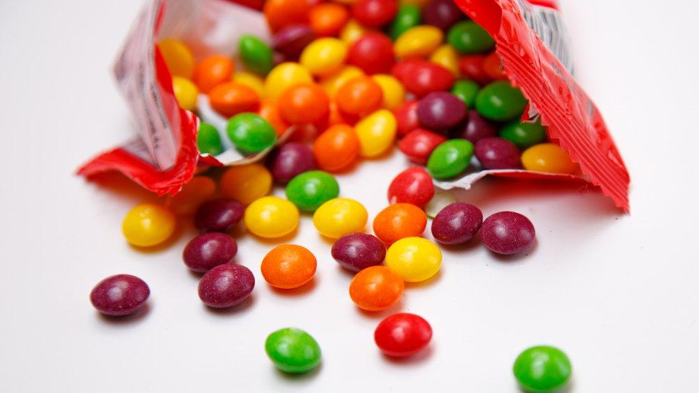 Skittles ad with rainbow