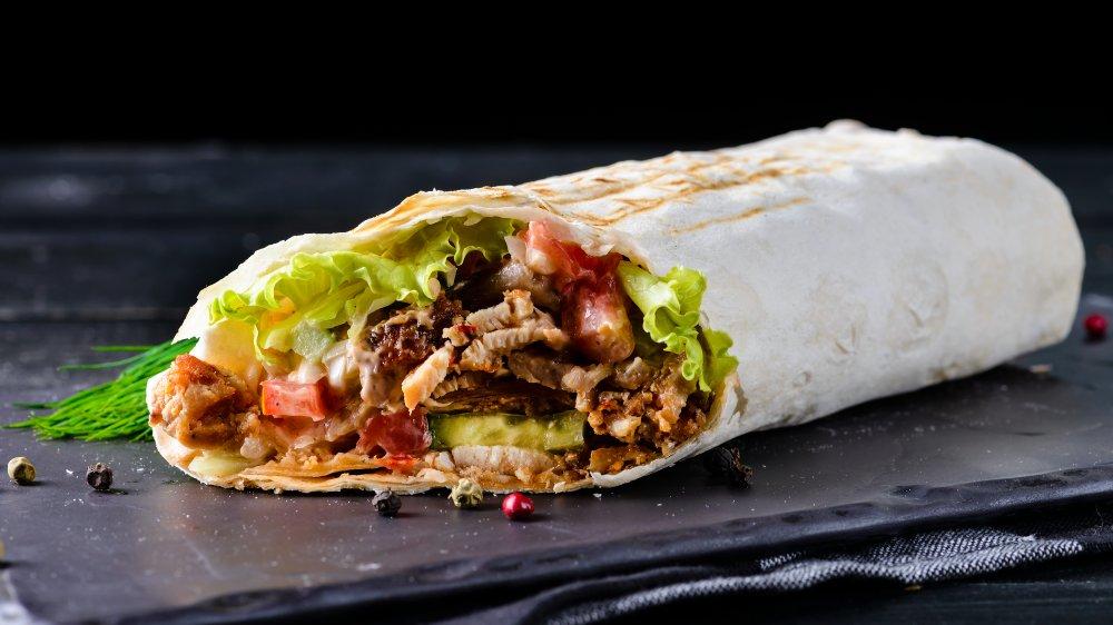 A representational photo of a burrito