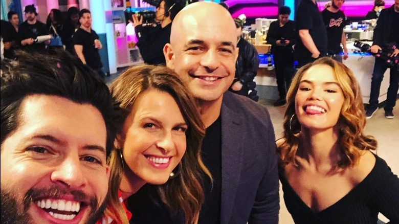 Hunter March, Candace Nelson, Adriano Zumbo on the set of Sugar Rush