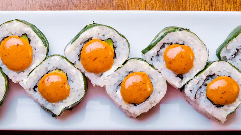 Latin American style sushi