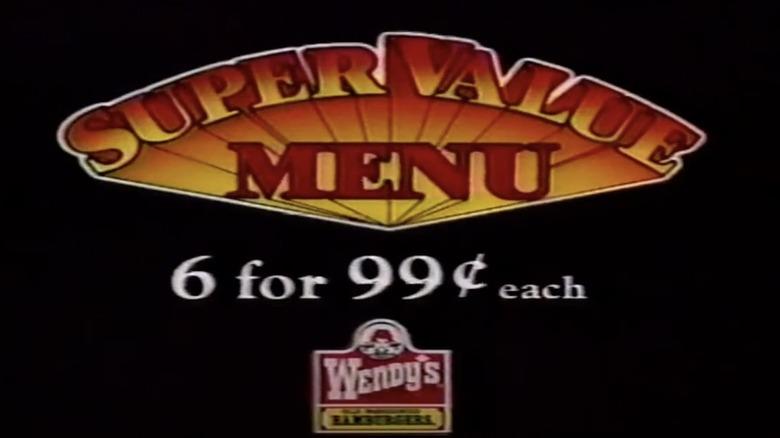 Wendy's Super Value Menu commercial