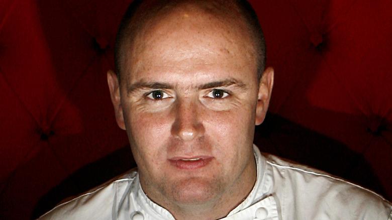 Aiden Byrne wearing chef's whites
