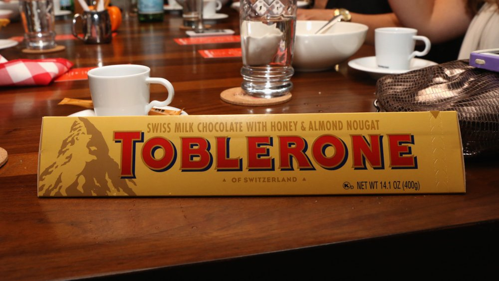 Toblerone in a pile