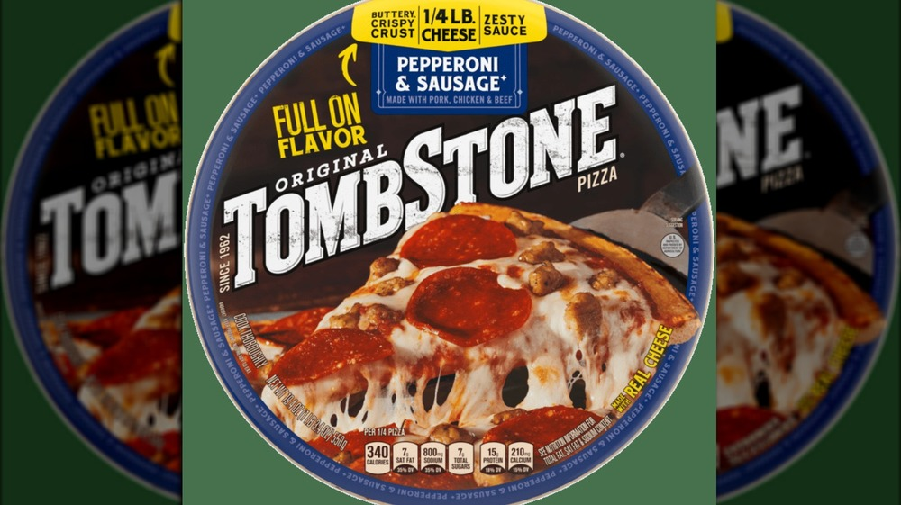 Frozen Tombstone cheese pizza