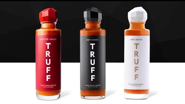 Three types of TRUFF Hot Sauce