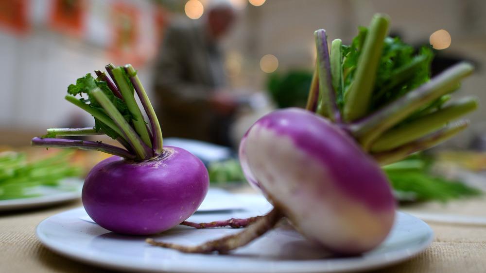 Turnips on plate