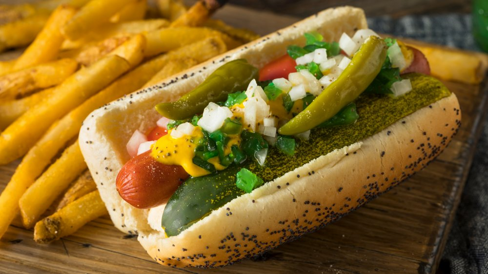 Chicago-style hot dog
