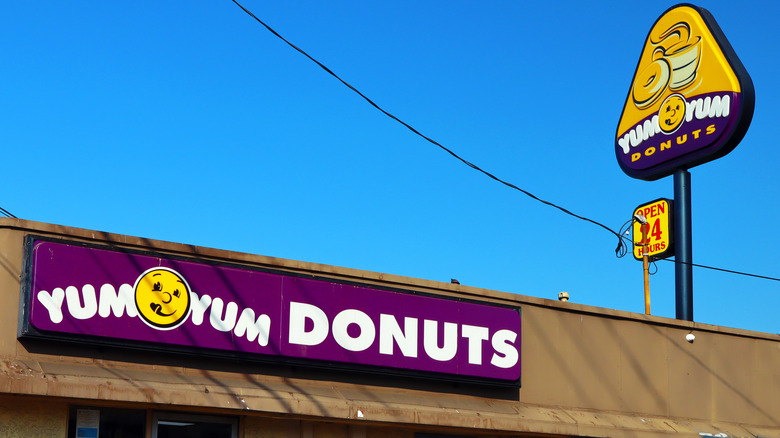 Exterior of a Yum Yum Donuts location