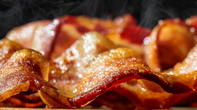 Freshly made bacon