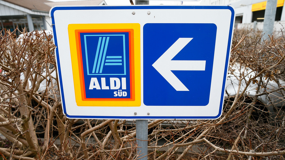 An Aldi sign in Germany