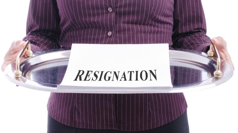 A platter of resignation