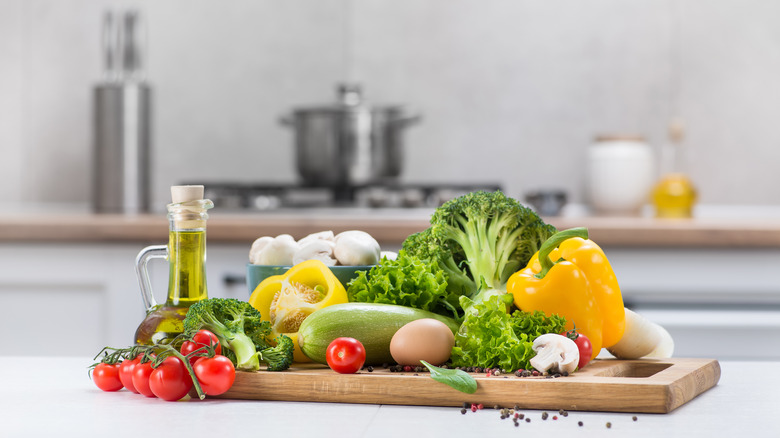 Vegetables on a countertop
