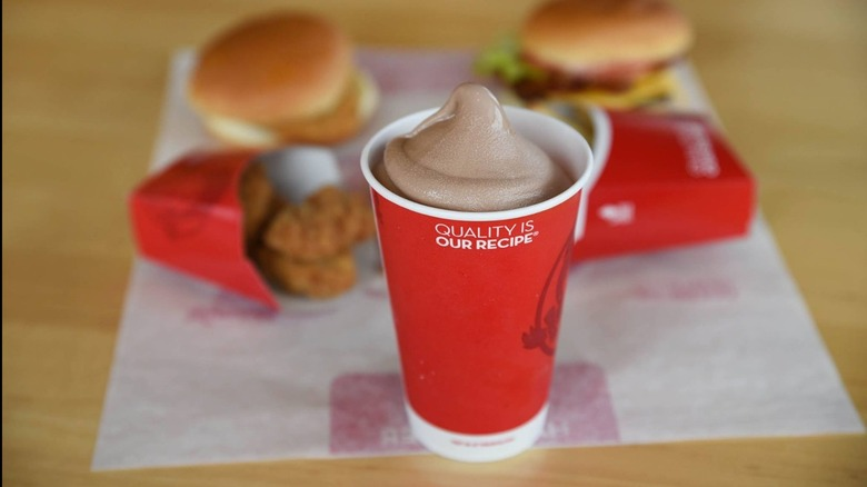 wendy's frosty and meal