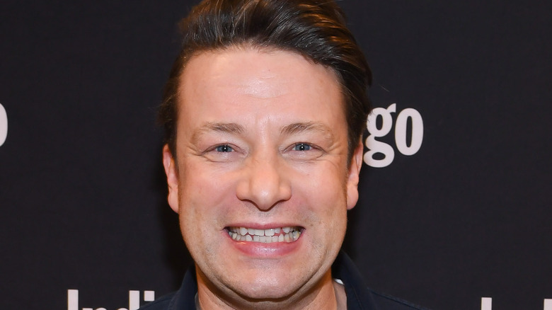 Jamie Oliver smiling big