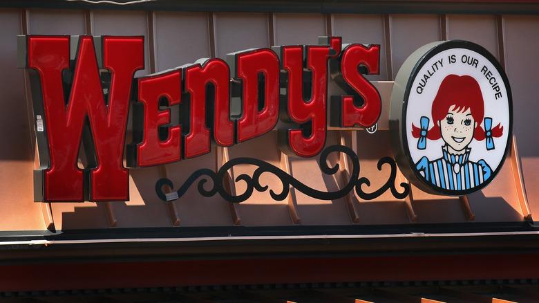 Wendy's restaurant sign