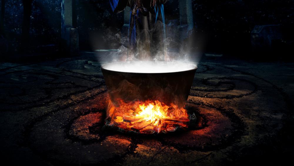 cauldron over fire
