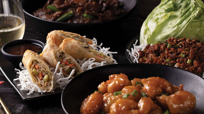 PF Chang's dishes on a table