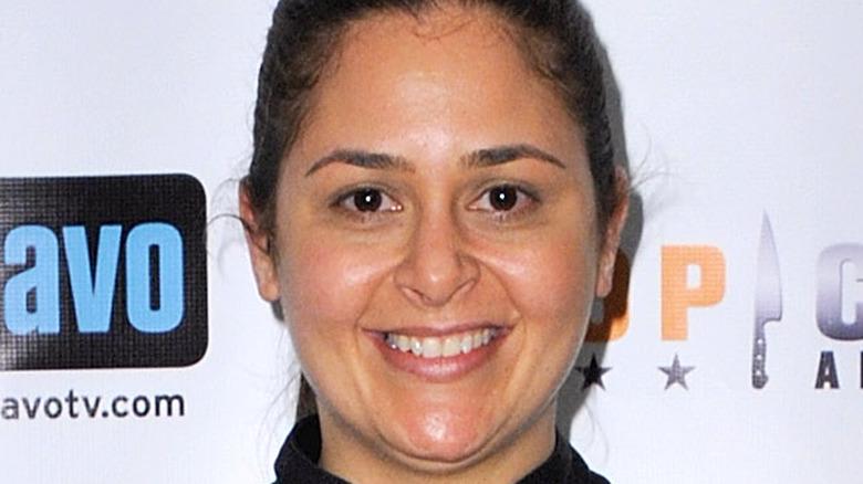 Antonia Lofaso smiling at event