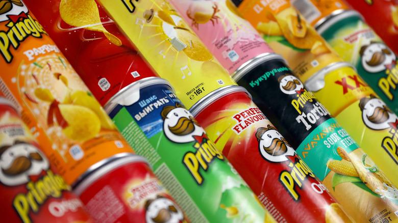 Variety of Pringles flavors