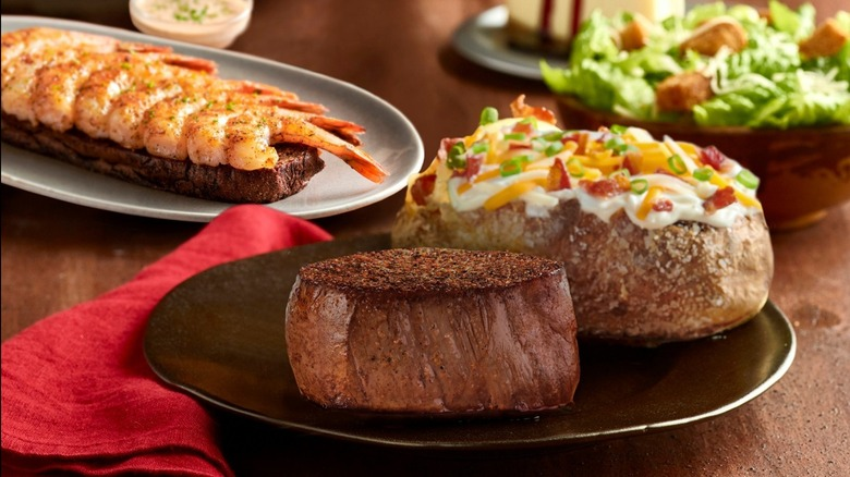 Outback Steakhouse meal