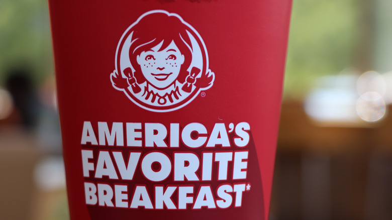 Wendy's cup with breakfast logo
