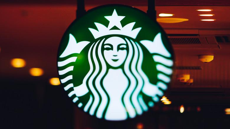 Starbucks sign with logo