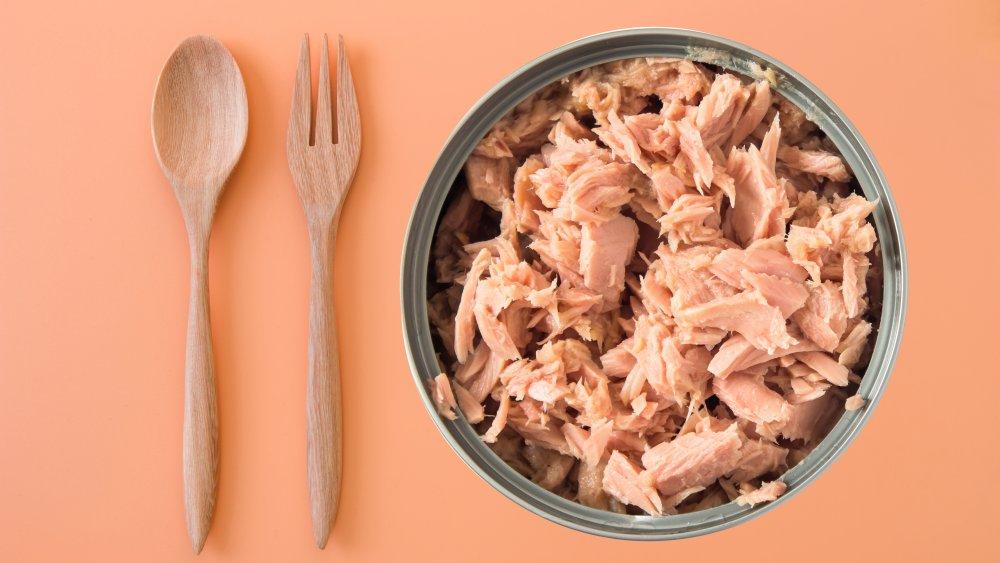 Tuna in a can