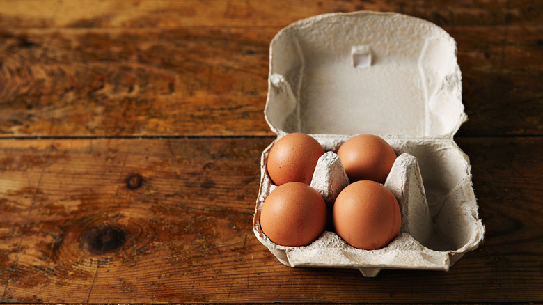 A container with eggs