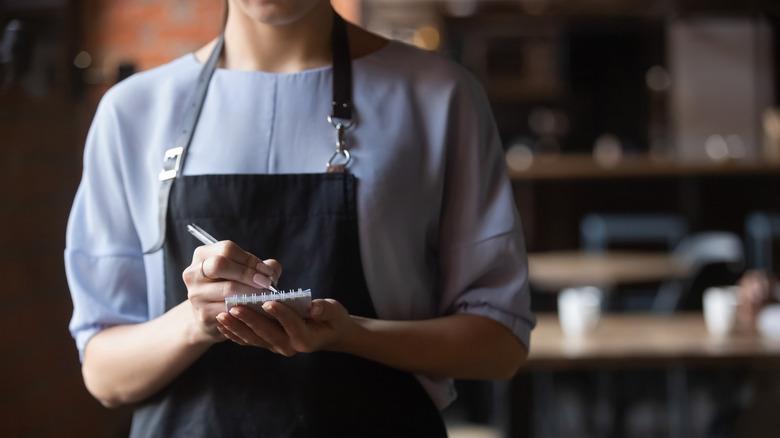 Close-up restaurant server