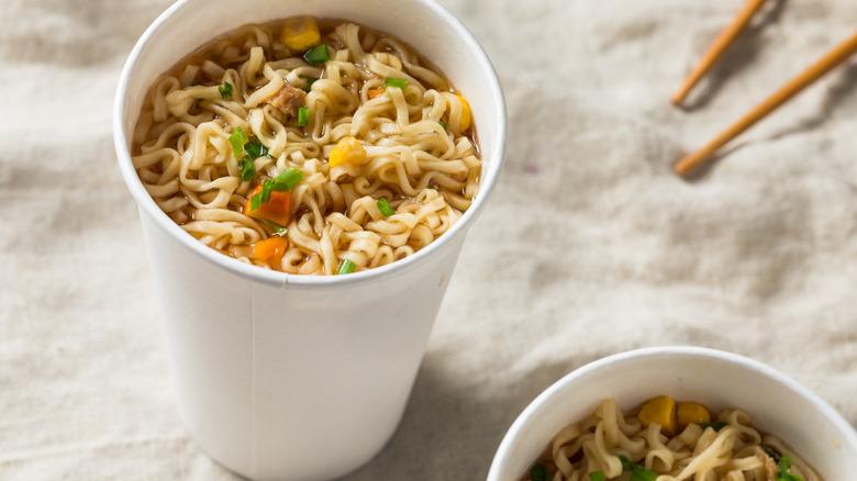 instant ramen noodles