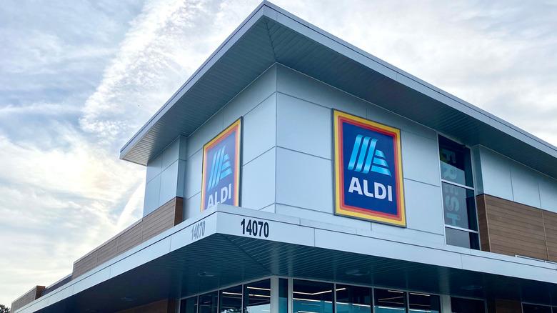 Exterior of Aldi store