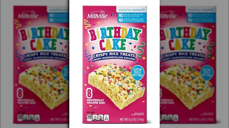 Millville Birthday Crispy Rice Treats