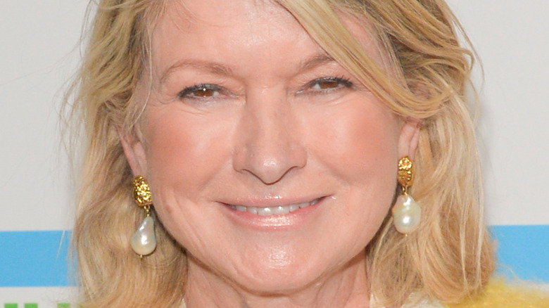 Closeup of Martha Stewart with earings