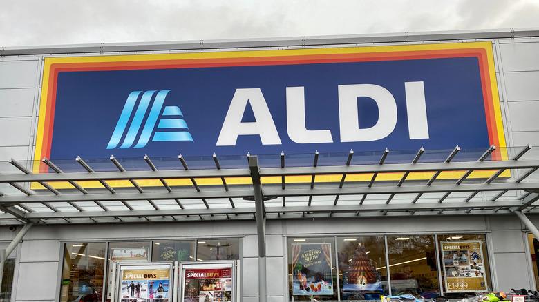 Aldi store sign outside store
