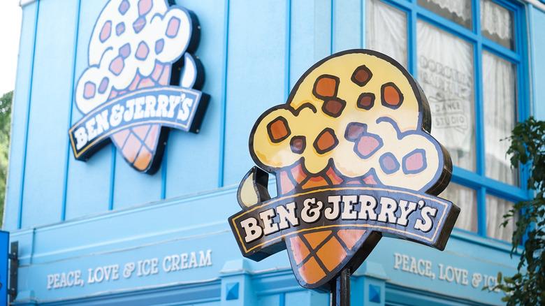 Ben & Jerry's store sign exterior