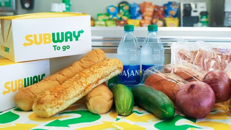 Chain restaurants selling groceries