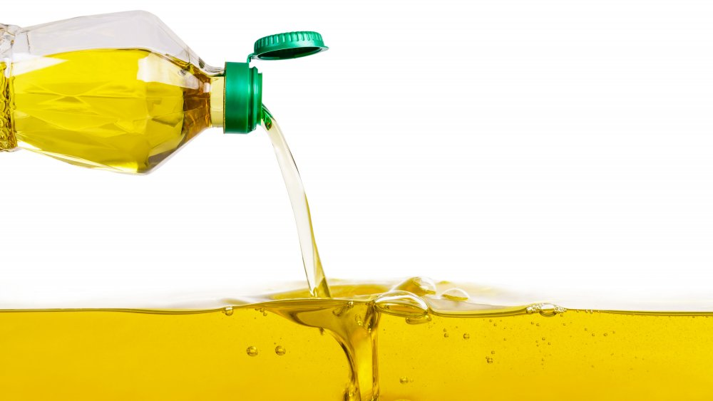 oil pouring out of a bottle