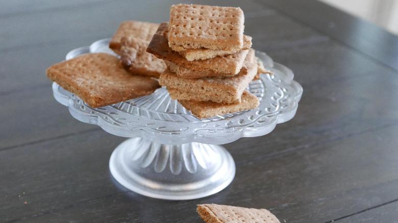 platter of homemade graham crackers