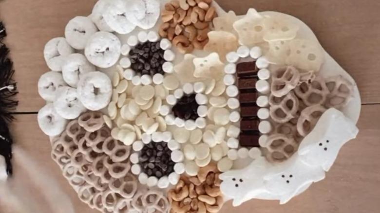 Skeleton snack board