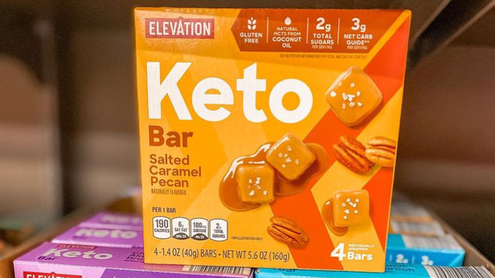 Box of Aldi's Keto snack bars