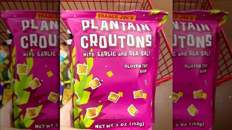 Bag of Trader Joe's Plantain Croutons