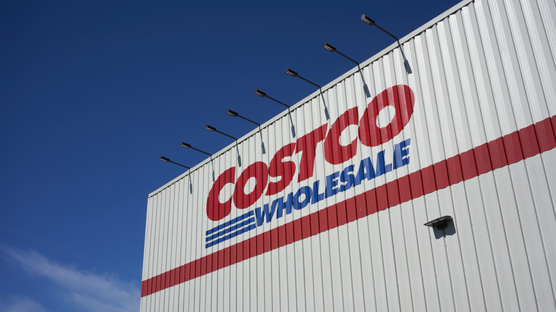 Costco store exterior against a blue sky