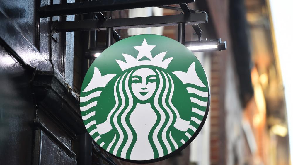 Starbucks sign and logo