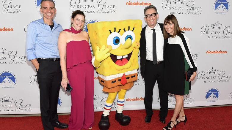 Spongebob walk around character and people