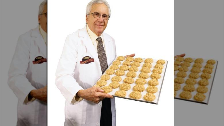 Dr. Sanford Siegal with Cookie Diet cookies