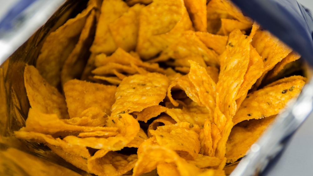 Bag of nacho Doritos