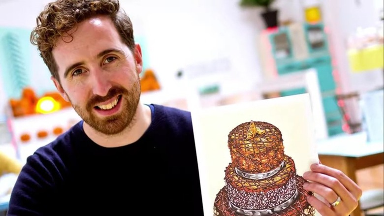Illustrator Tom Hovey with art
