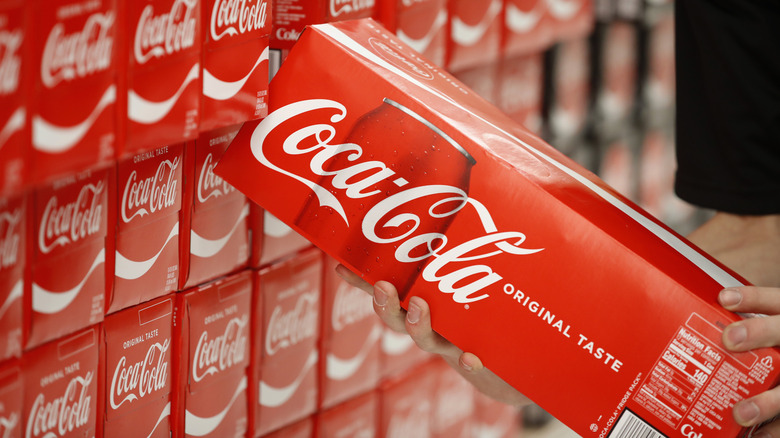 Packages of Coca-Cola